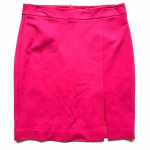 Trina Turk | Pencil Skirt with Front Slit Magenta